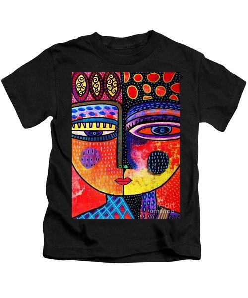 Fire Volcano Goddess Kids T-Shirt