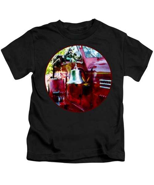 Fireman - Bell On Fire Engine Kids T-Shirt