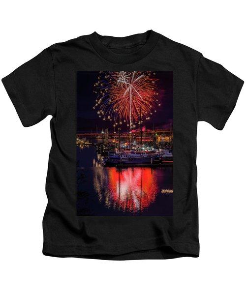 Fireworks At The Docks Kids T-Shirt