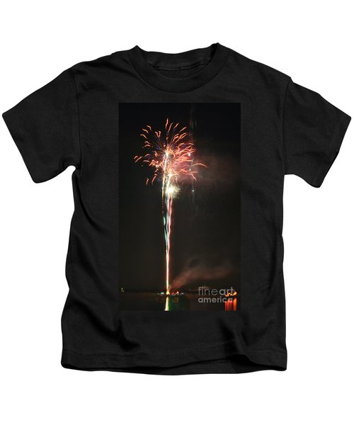 Fireworks On The Lake Kids T-Shirt