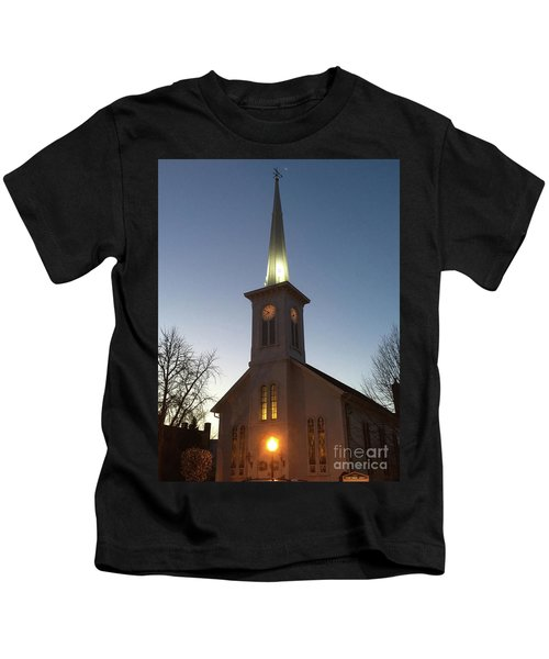 First Presbyterian Churc Babylon N.y After Sunset Kids T-Shirt