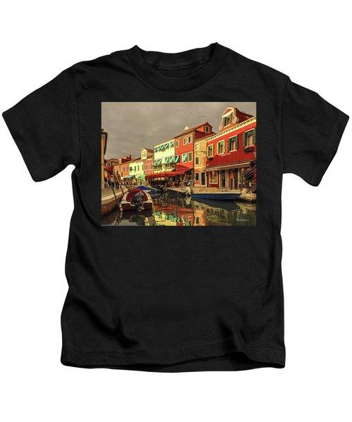 Fishing Boats In Colorful Burano Kids T-Shirt