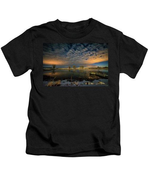 Fishing Hole At Night Kids T-Shirt
