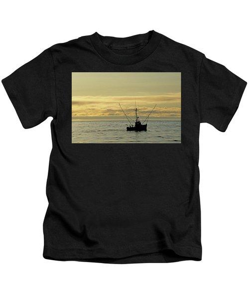Fishing Off Santa Cruz Kids T-Shirt