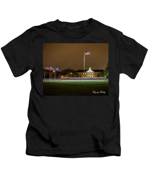 Flag At Night In Wind Kids T-Shirt