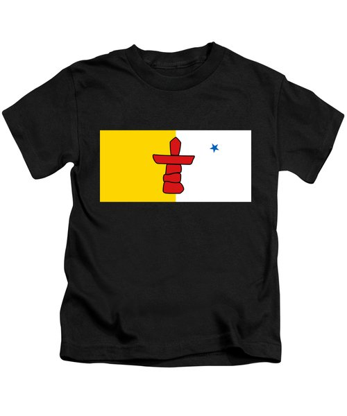 Flag Of Nunavut High Quality Authentic Hd Version Kids T-Shirt