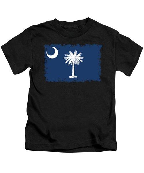 Flag Of South Carolina Authentic Version Kids T-Shirt