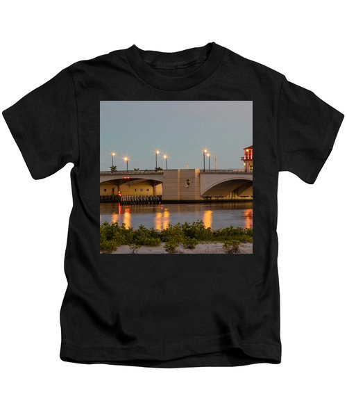 Flagler Bridge In Lights IIi Kids T-Shirt