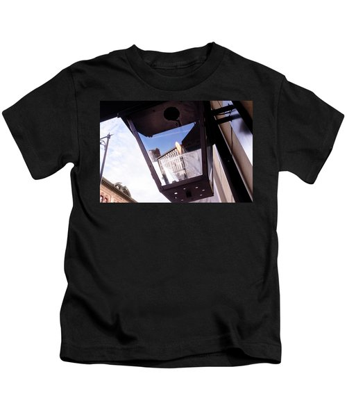 Flame In A Light Box Outdoors On The Street In Grand Rapids Michigan Kids T-Shirt