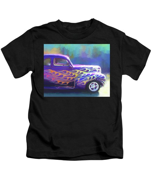 Flamed 1940 Ford Kids T-Shirt