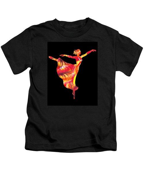Flaming Arabesque  Kids T-Shirt