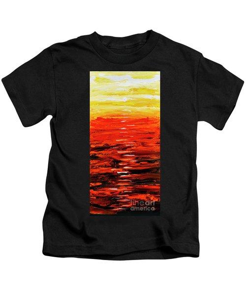 Flaming Sunset Abstract 205173 Kids T-Shirt