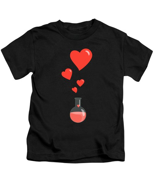 Flask Of Hearts Kids T-Shirt