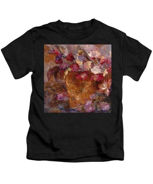 Floral Still Life Pinks Kids T-Shirt