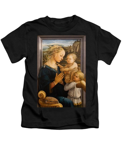 Florence - Madonna And Child With Angels- Filippo Lippi Kids T-Shirt