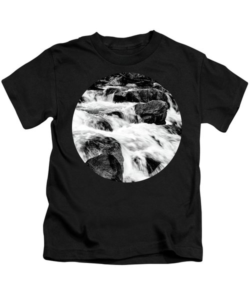 Flow, Black And White Kids T-Shirt by Adam Morsa