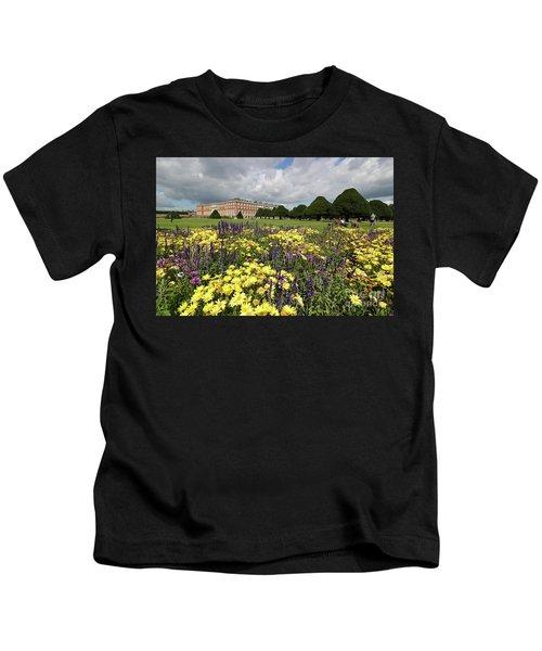 Flower Bed Hampton Court Palace Kids T-Shirt