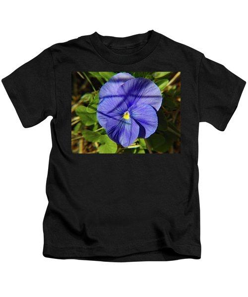 Flowering Pansy Kids T-Shirt