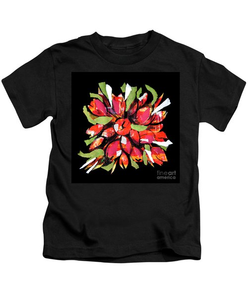 Flowers, Art Collage Kids T-Shirt