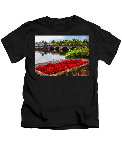 Kids T-Shirt featuring the photograph Flowers At Roosky by James Truett