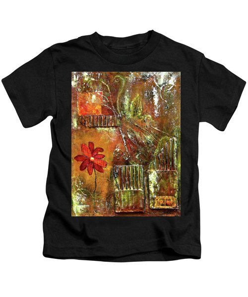 Flowers Grow Anywhere Kids T-Shirt