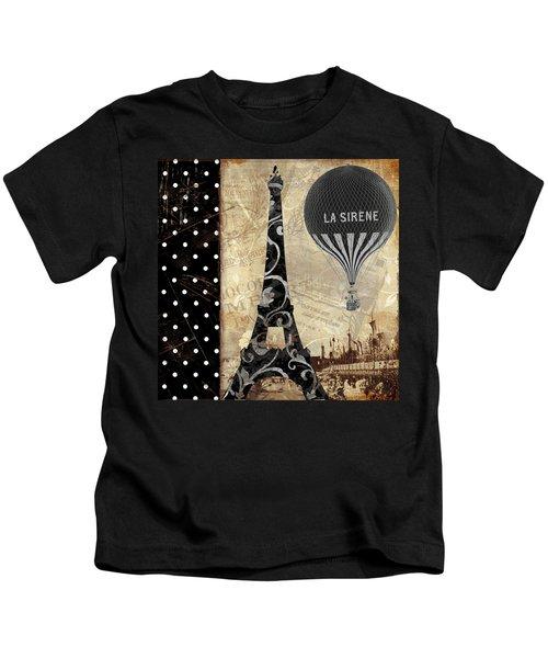 Flying Over Paris Kids T-Shirt