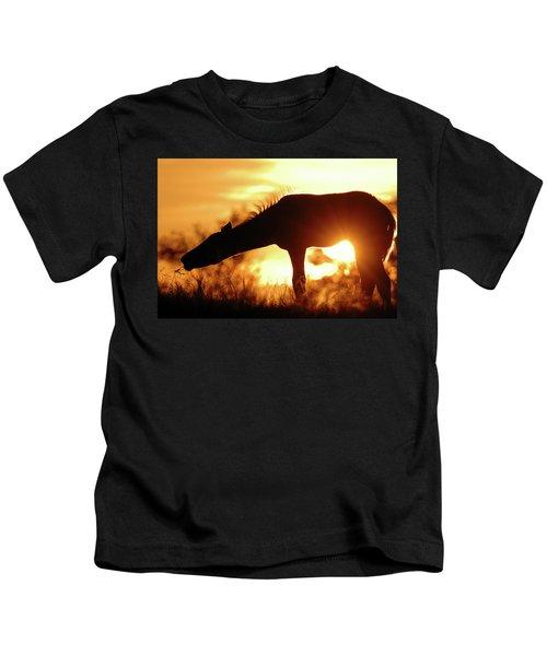 Foal Silhouette Kids T-Shirt