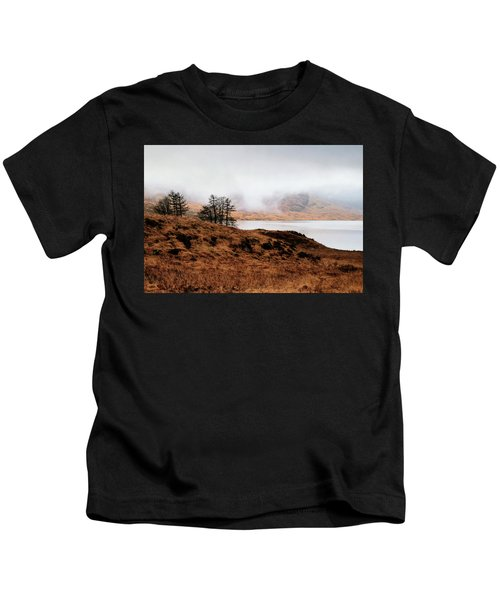 Foggy Day At Loch Arklet Kids T-Shirt