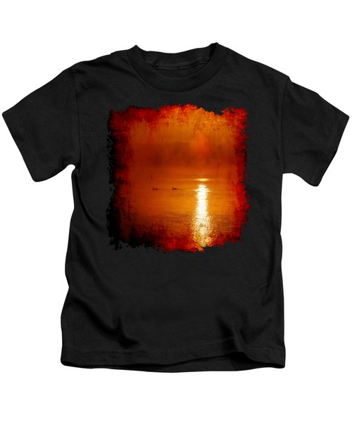 Foggy Morning On The River Kids T-Shirt