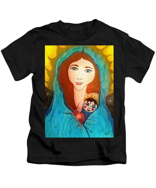 Folk Mother And Child Kids T-Shirt