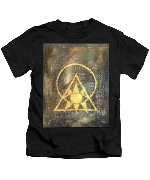Follow The Light - Illuminati And Binary Kids T-Shirt