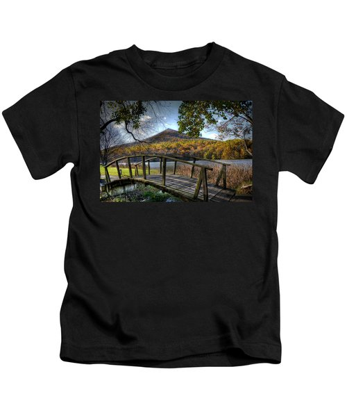 Foot Bridge Kids T-Shirt by Todd Hostetter