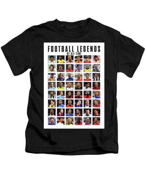 Football Legends Kids T-Shirt by Semih Yurdabak