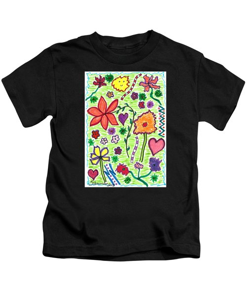 For The Love Of Flowers Kids T-Shirt