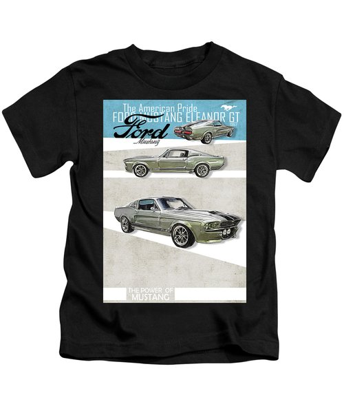 Shelby Mustang Gt500 Eleanor 1967 Retro Style Kids Car T-shirt Boys' Clothing (2-16 Years) Kids' Clothes, Shoes & Accs.