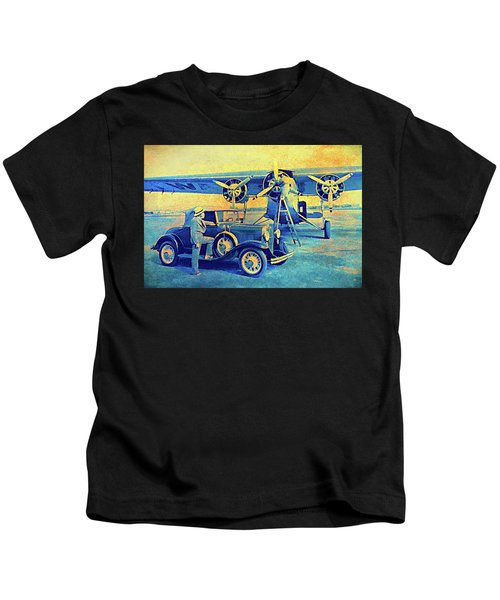 Ford Trimotor And 1931 Model A Roadster Kids T-Shirt