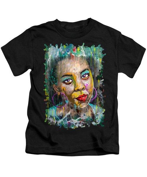 Forget-me-not Eyes Kids T-Shirt