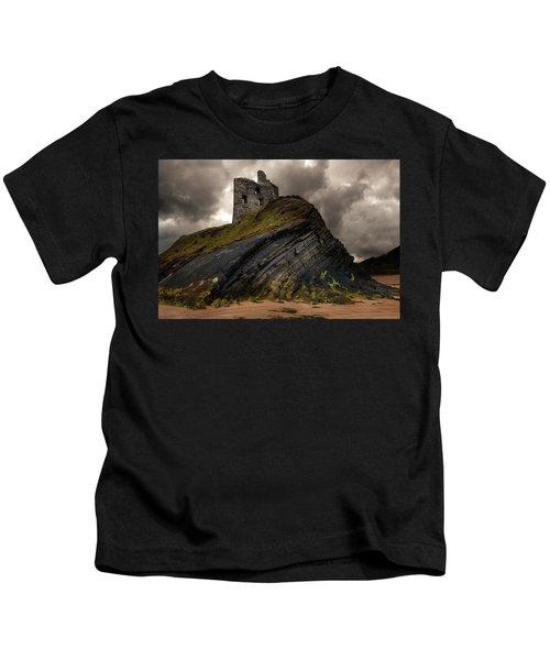 Forgotten Castle In Ballybunion Kids T-Shirt