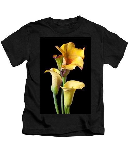Four Calla Lilies Kids T-Shirt