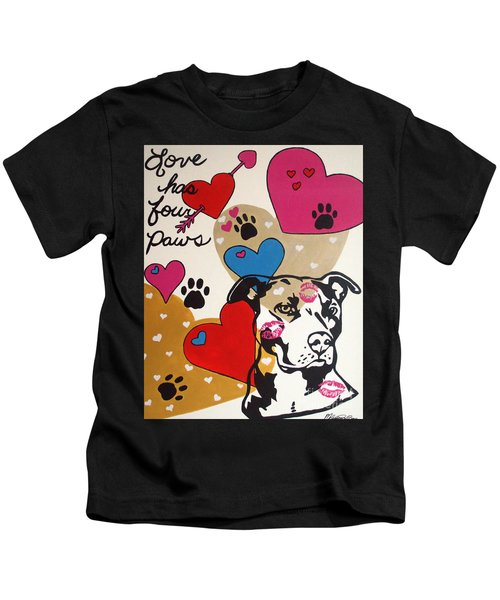 Four Pitty Paws Kids T-Shirt