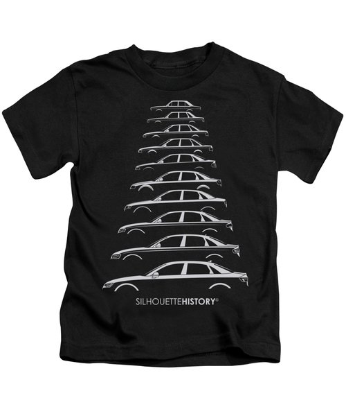 Four Rings Sedan Silhouettehistory Kids T-Shirt