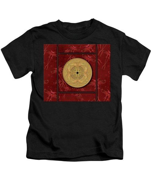 Framed Zenfly Bi Coin Kids T-Shirt