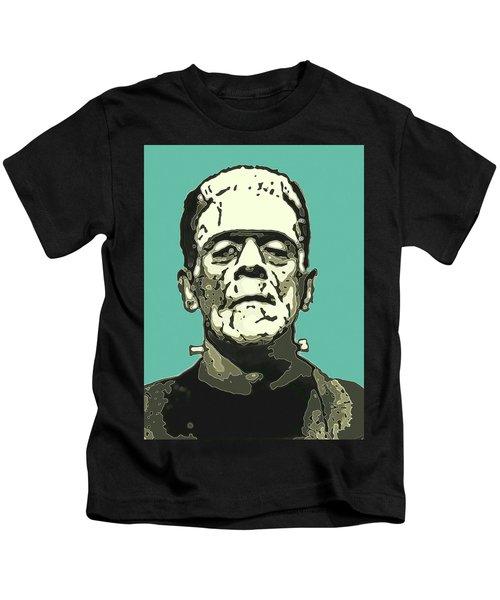 Frankensteins Monster Karloff Comic Kids T-Shirt
