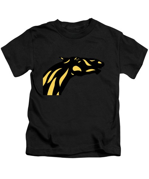 Fred - Pop Art Horse - Black, Primrose Yellow, Hazelnut Kids T-Shirt