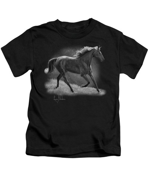 Free - Black And White Kids T-Shirt by Lucie Bilodeau