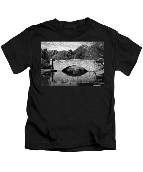 Freedom Park Bridge In Black And White Kids T-Shirt