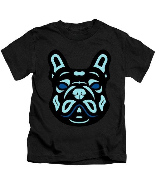 French Bulldog Francis - Dog Design - Hazelnut, Island Paradise, Lapis Blue Kids T-Shirt