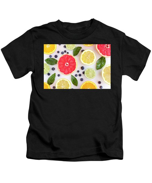 Fresh Citrus Fruits Kids T-Shirt