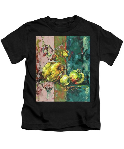 Fresh Quince And Pomegranate Kids T-Shirt