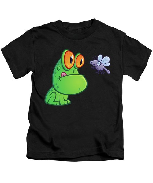 Frog And Dragonfly Kids T-Shirt